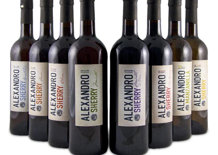 Familia de vinos Alexandro de Aecovi Jerez.
