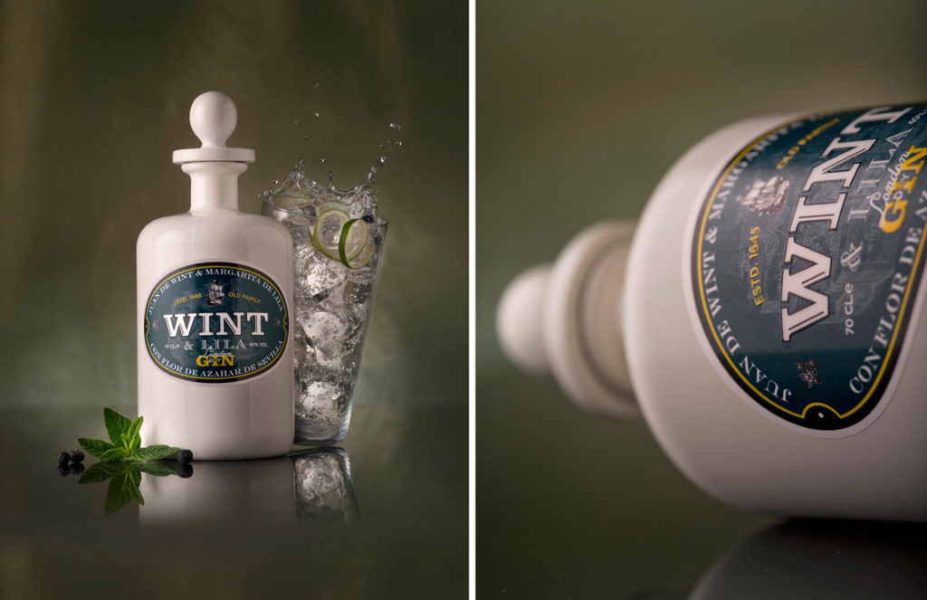 Wint&Lila gin branding y packaging ideologo