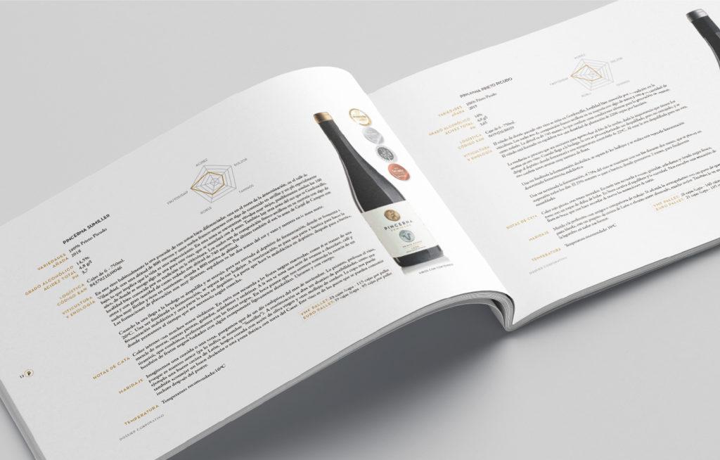 Dossier corporativo de bodegas Pincerna, unión de historia y modernidad que transmite el prestigio de tantos años de excelencia y buen hacer.